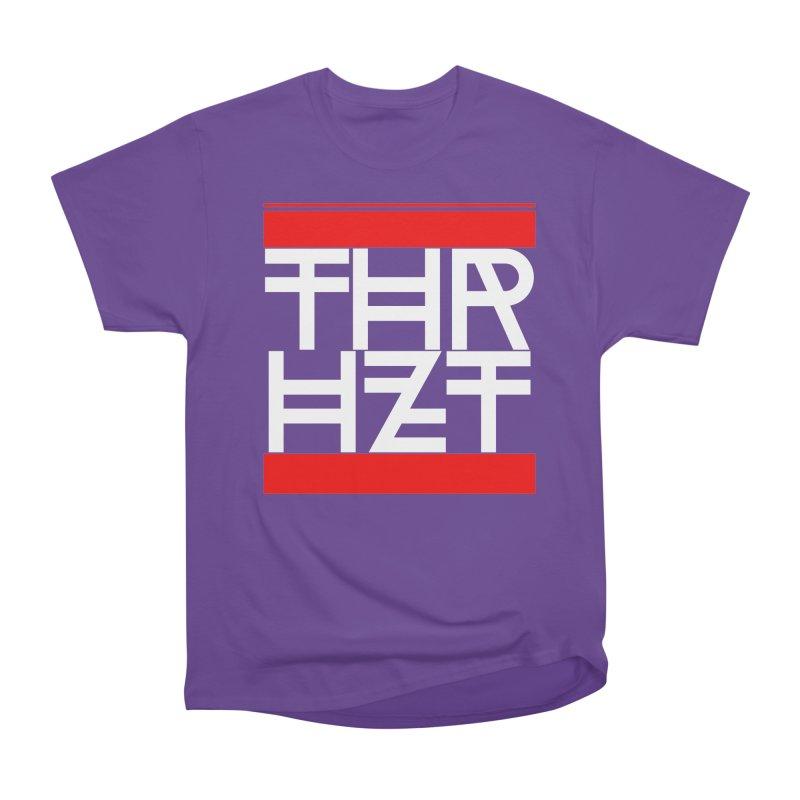 thr3e dmc white Men's Heavyweight T-Shirt by thr3ads