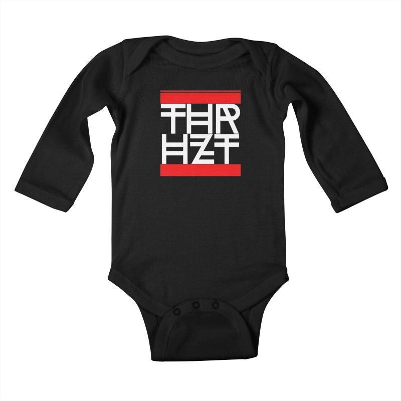 thr3e dmc white Kids Baby Longsleeve Bodysuit by thr3ads