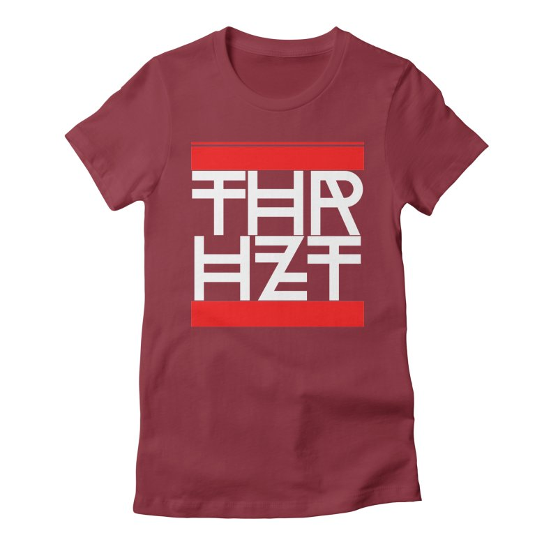 thr3e dmc white Women's Fitted T-Shirt by thr3ads