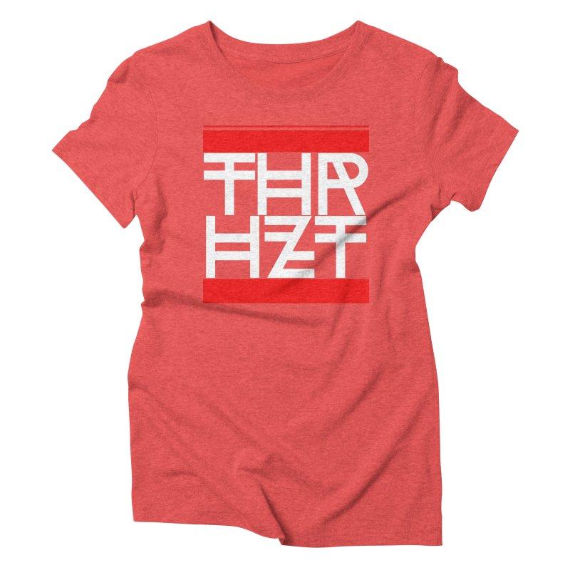 thr3e dmc white Women's Triblend T-Shirt by thr3ads