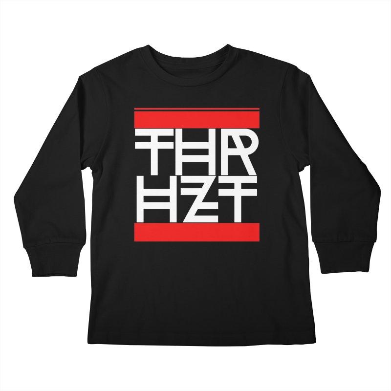 thr3e dmc white Kids Longsleeve T-Shirt by thr3ads