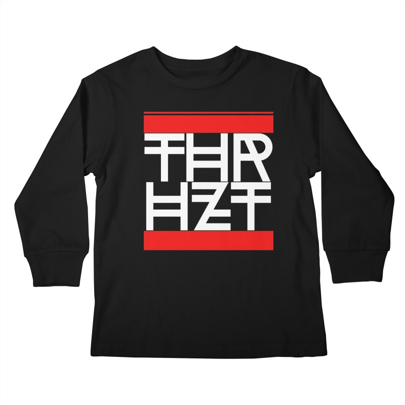 thr3e dmc white Kids Longsleeve T-Shirt by thr3ads