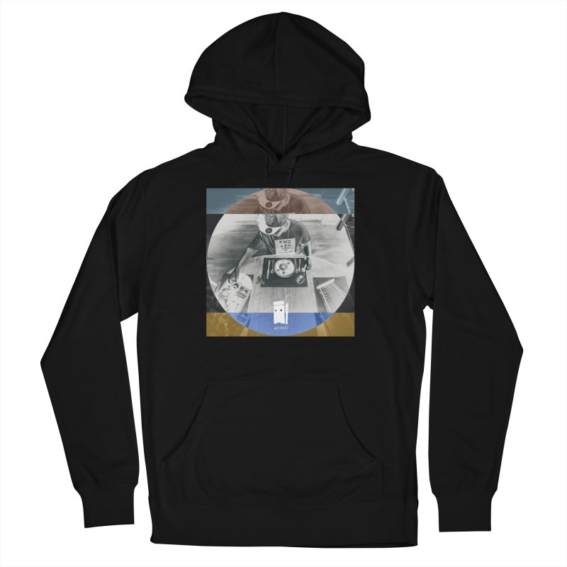 Bless Your Food in Men's French Terry Pullover Hoody Black by thr3ads
