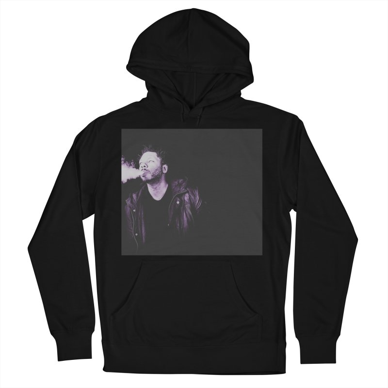 vapetape. in Men's French Terry Pullover Hoody Black by thr3ads