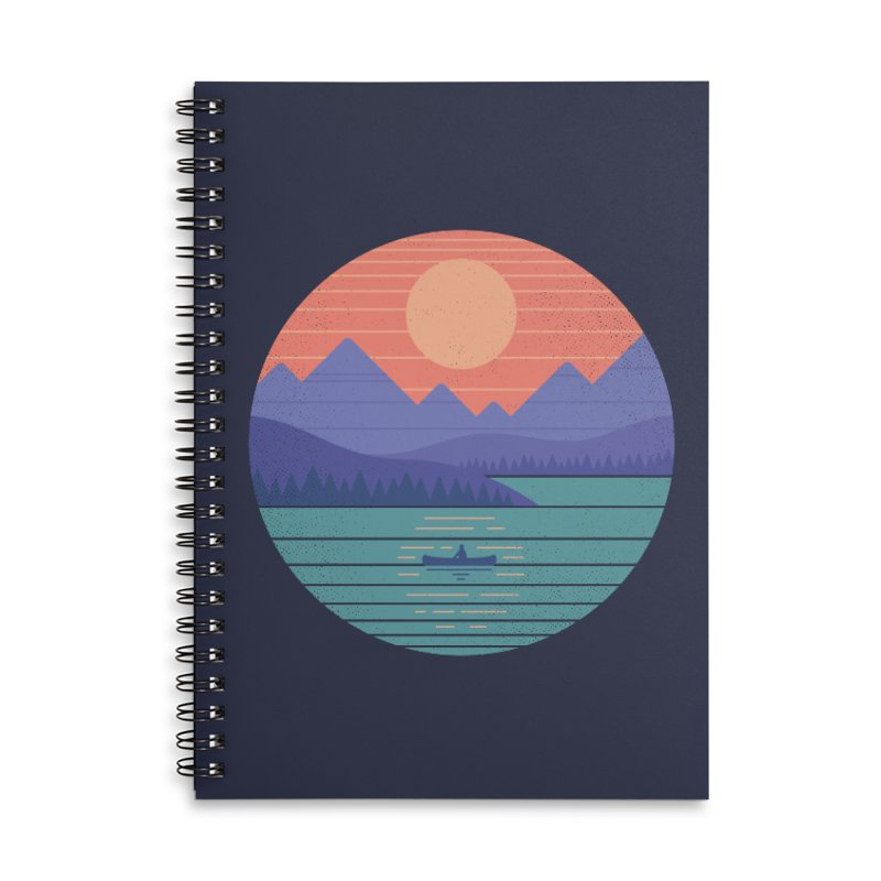 Peaceful Reflection Accessories Lined Spiral Notebook by thepapercrane's shop