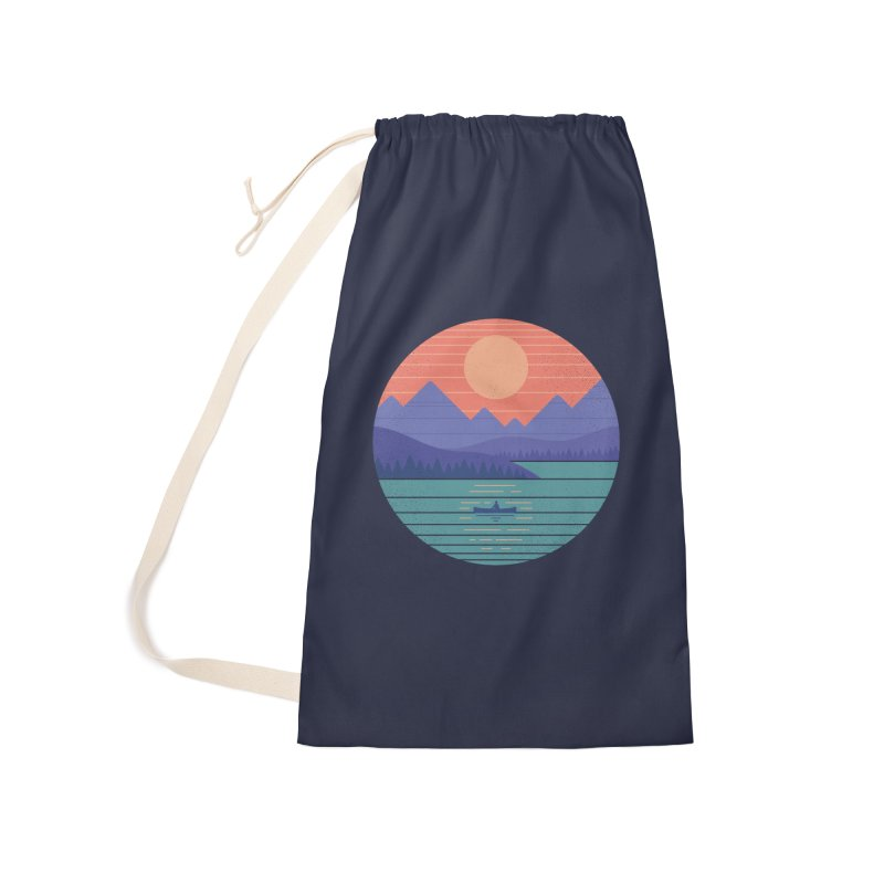Peaceful Reflection Accessories Laundry Bag Bag by thepapercrane's shop