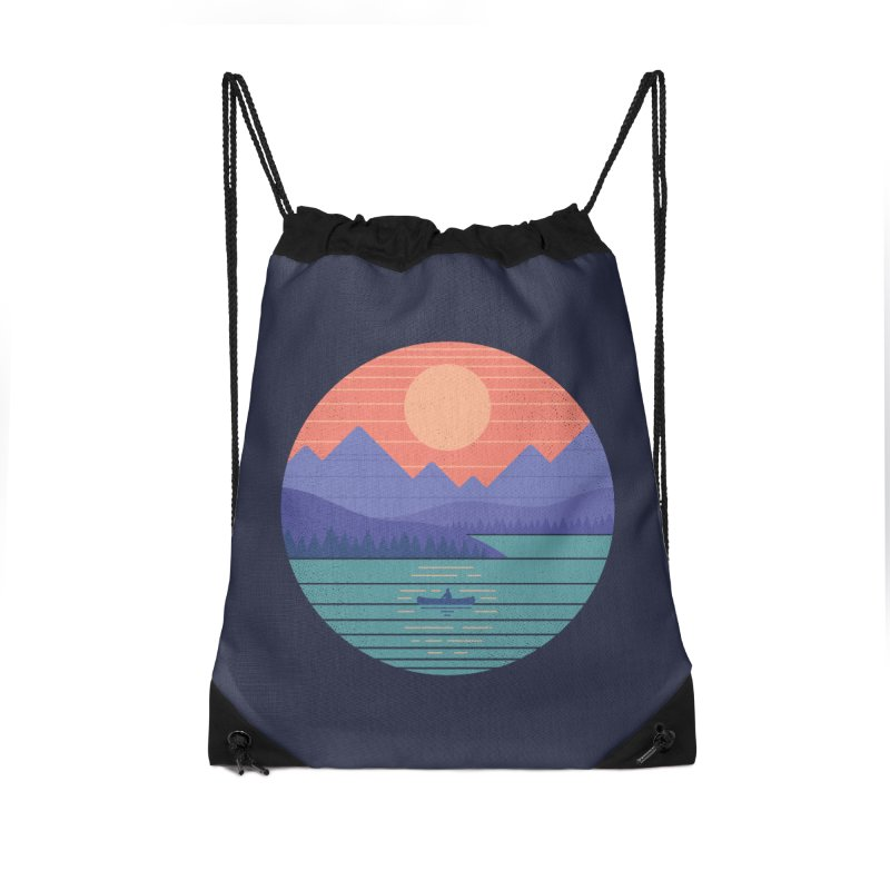 Peaceful Reflection Accessories Drawstring Bag Bag by thepapercrane's shop