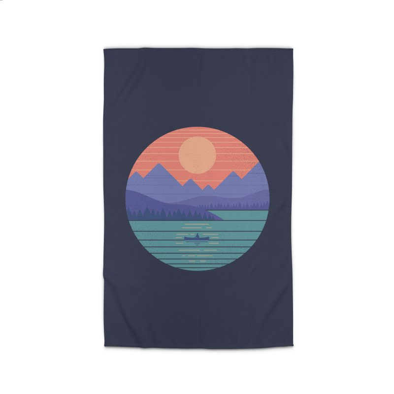Peaceful Reflection Home Rug by thepapercrane's shop