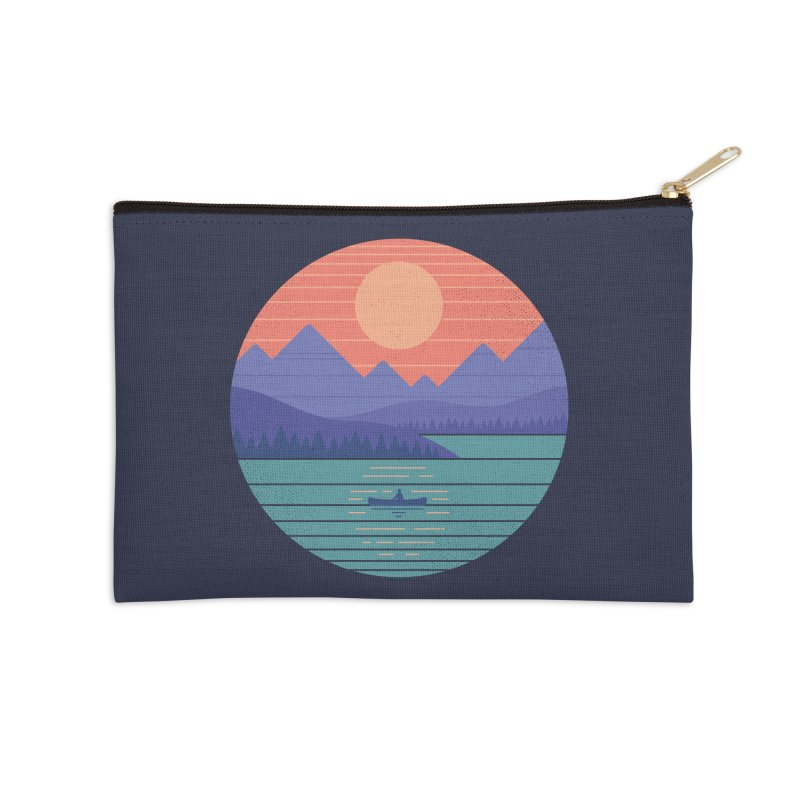 Peaceful Reflection Accessories Zip Pouch by thepapercrane's shop