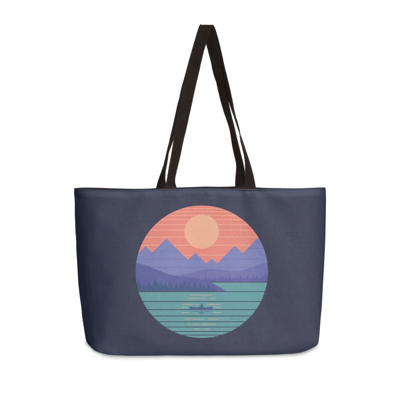 Peaceful Reflection Accessories Weekender Bag Bag by thepapercrane's shop