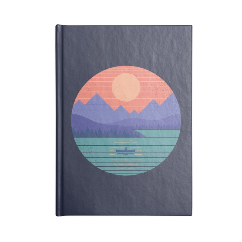 Peaceful Reflection Accessories Lined Journal Notebook by thepapercrane's shop