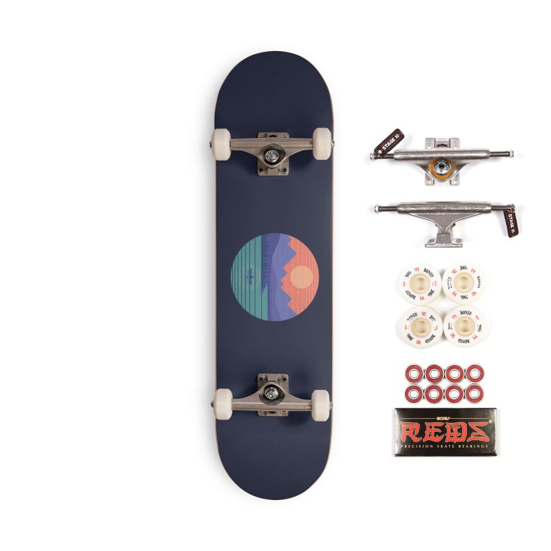 Peaceful Reflection Accessories Complete - Pro Skateboard by thepapercrane's shop