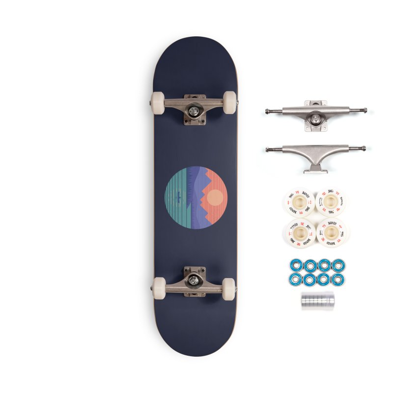 Peaceful Reflection Accessories Skateboard by thepapercrane's shop
