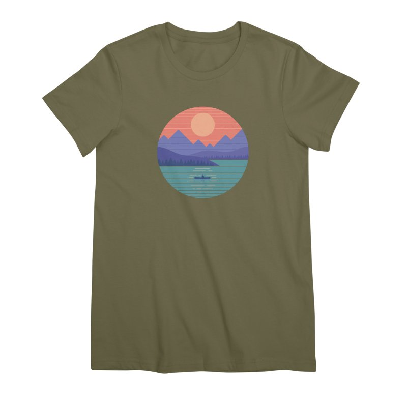 Peaceful Reflection Women's Premium T-Shirt by thepapercrane's shop