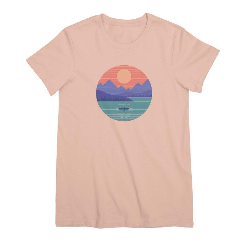Peaceful Reflection Women's Premium T-Shirt by thepapercrane's shop