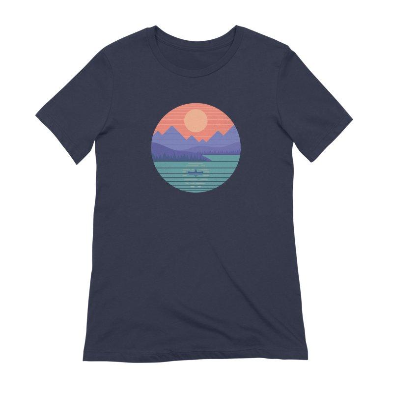 Peaceful Reflection Women's Extra Soft T-Shirt by thepapercrane's shop