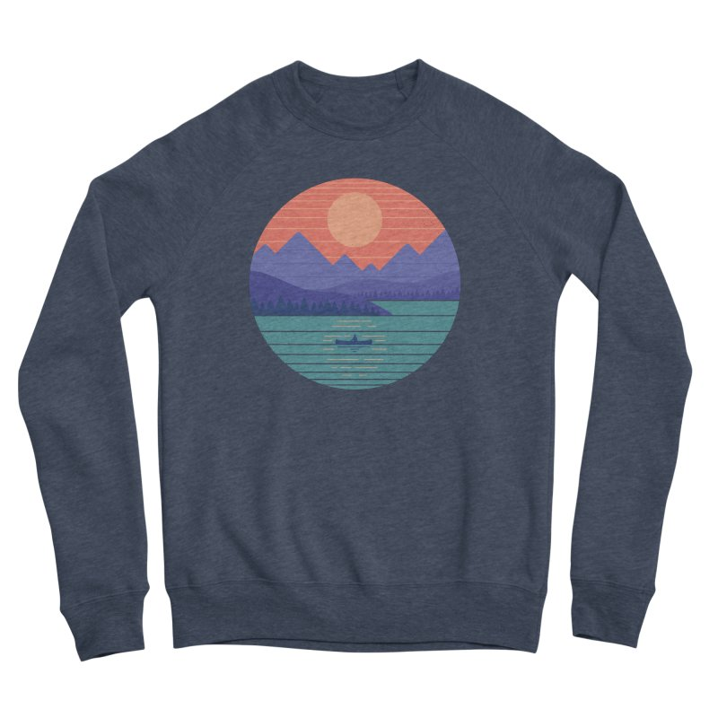 Peaceful Reflection Men's Sponge Fleece Sweatshirt by thepapercrane's shop