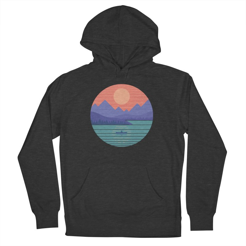 Peaceful Reflection Men's French Terry Pullover Hoody by thepapercrane's shop