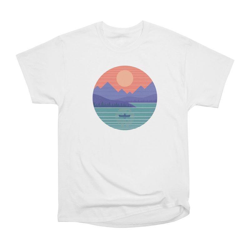Peaceful Reflection Men's Heavyweight T-Shirt by thepapercrane's shop