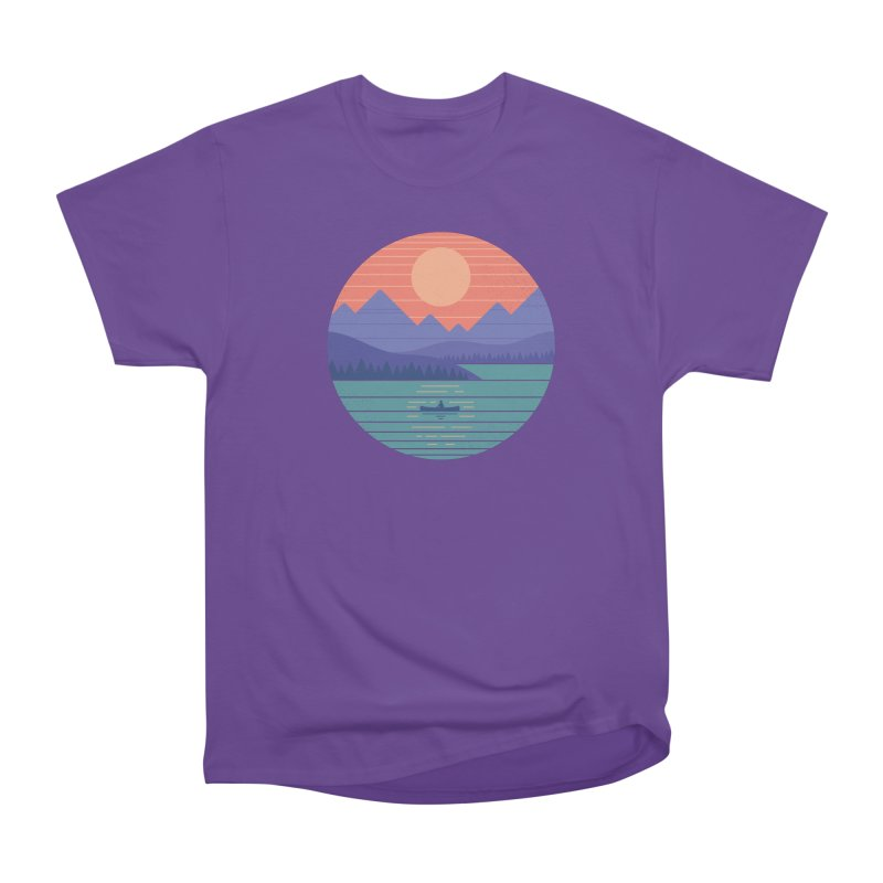 Peaceful Reflection Women's Heavyweight Unisex T-Shirt by thepapercrane's shop