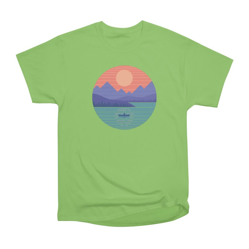Peaceful Reflection Men's Heavyweight T-Shirt by thepapercrane's shop