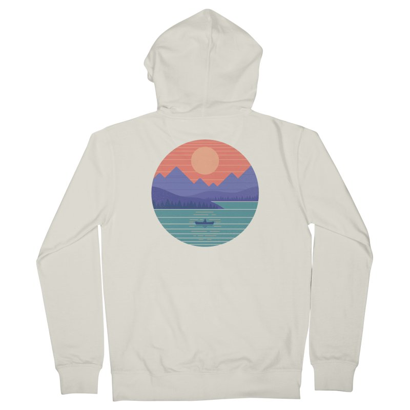 Peaceful Reflection Women's French Terry Zip-Up Hoody by thepapercrane's shop