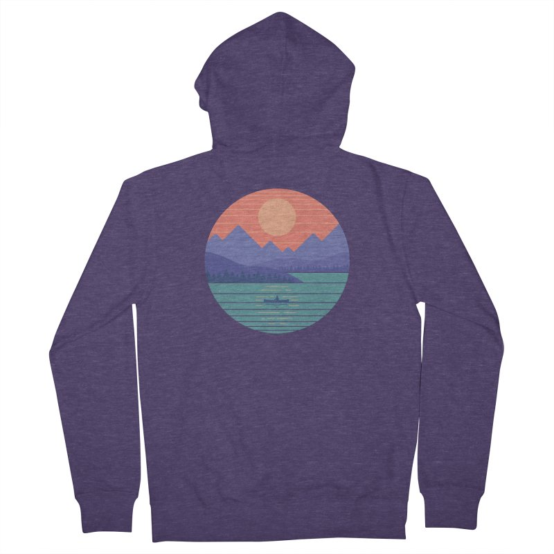 Peaceful Reflection Men's French Terry Zip-Up Hoody by thepapercrane's shop