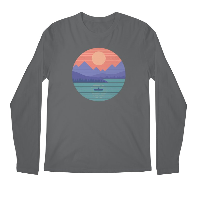 Peaceful Reflection Men's Longsleeve T-Shirt by thepapercrane's shop