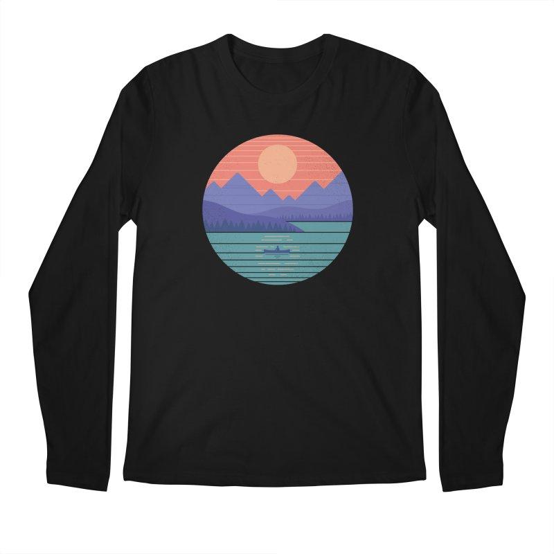 Peaceful Reflection Men's Regular Longsleeve T-Shirt by thepapercrane's shop