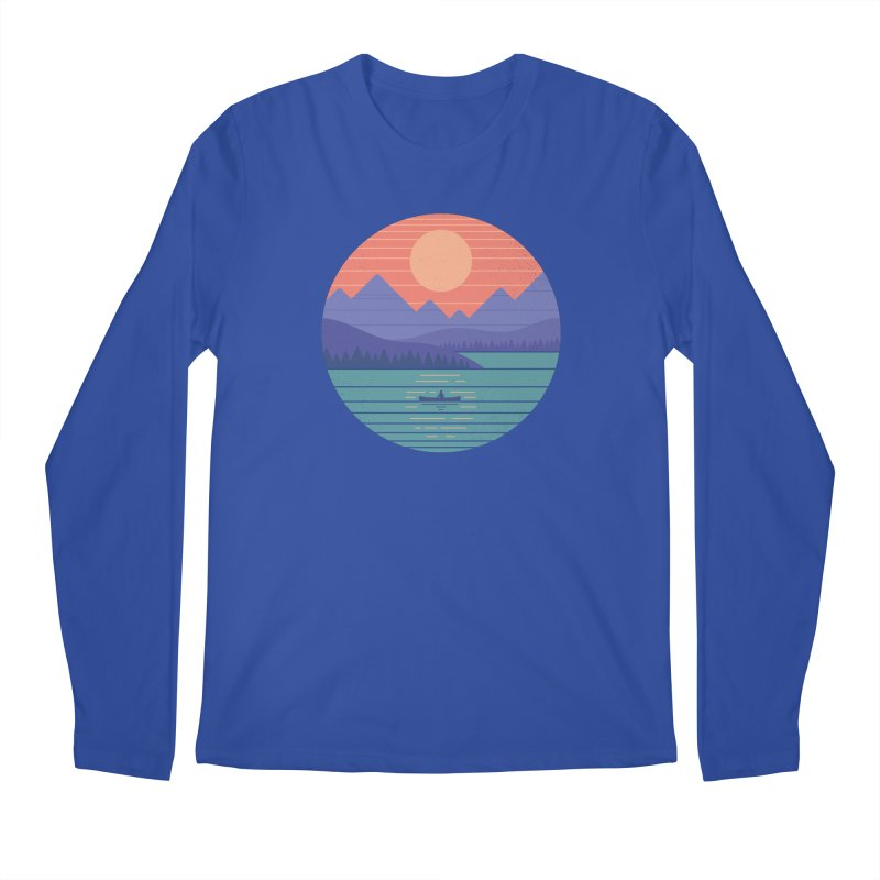 Peaceful Reflection Men's Regular Longsleeve T-Shirt by thepapercrane's shop
