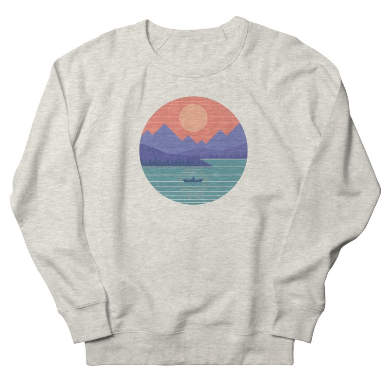 Peaceful Reflection Women's French Terry Sweatshirt by thepapercrane's shop