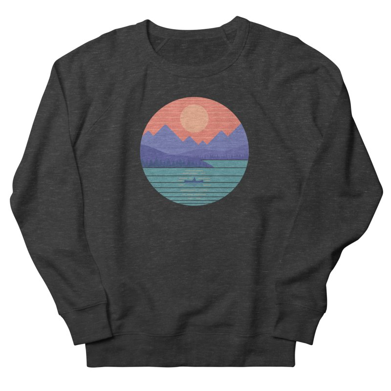 Peaceful Reflection Men's French Terry Sweatshirt by thepapercrane's shop