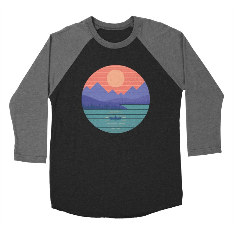 Peaceful Reflection Women's Baseball Triblend Longsleeve T-Shirt by thepapercrane's shop