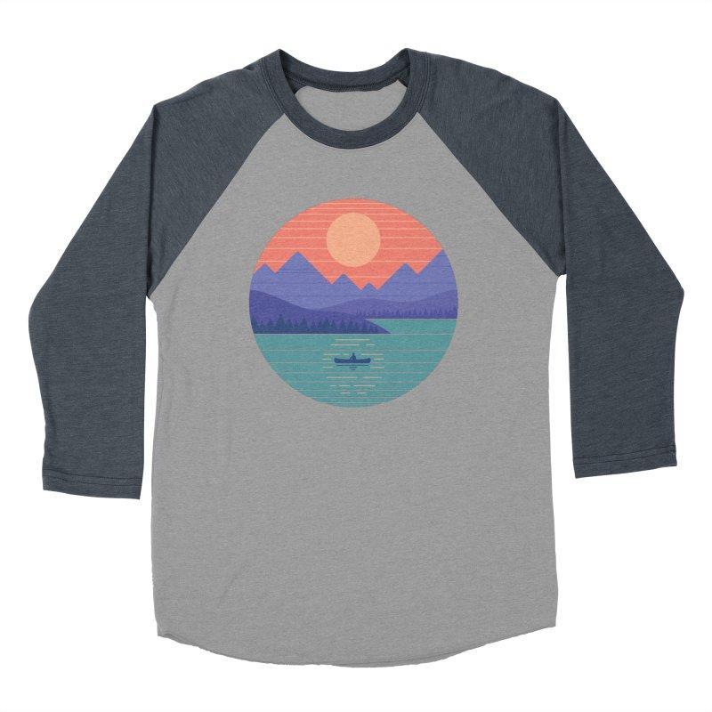 Peaceful Reflection Men's Baseball Triblend Longsleeve T-Shirt by thepapercrane's shop