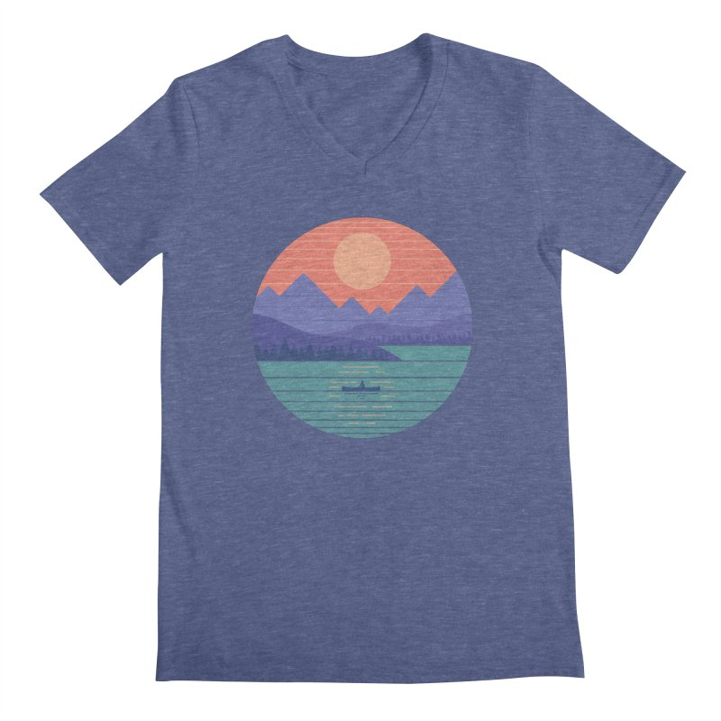 Peaceful Reflection Men's Regular V-Neck by thepapercrane's shop
