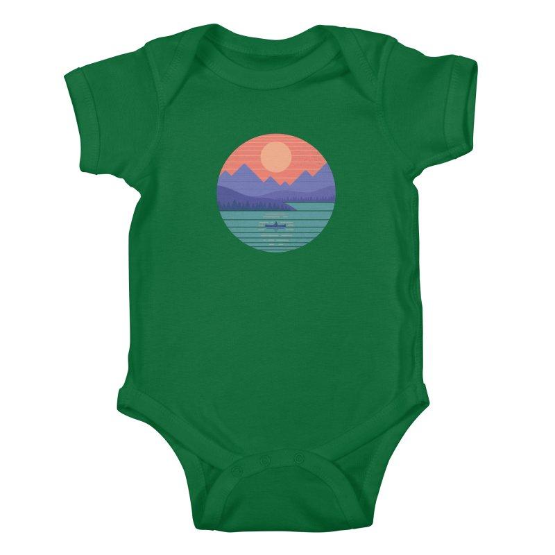 Peaceful Reflection Kids Baby Bodysuit by thepapercrane's shop
