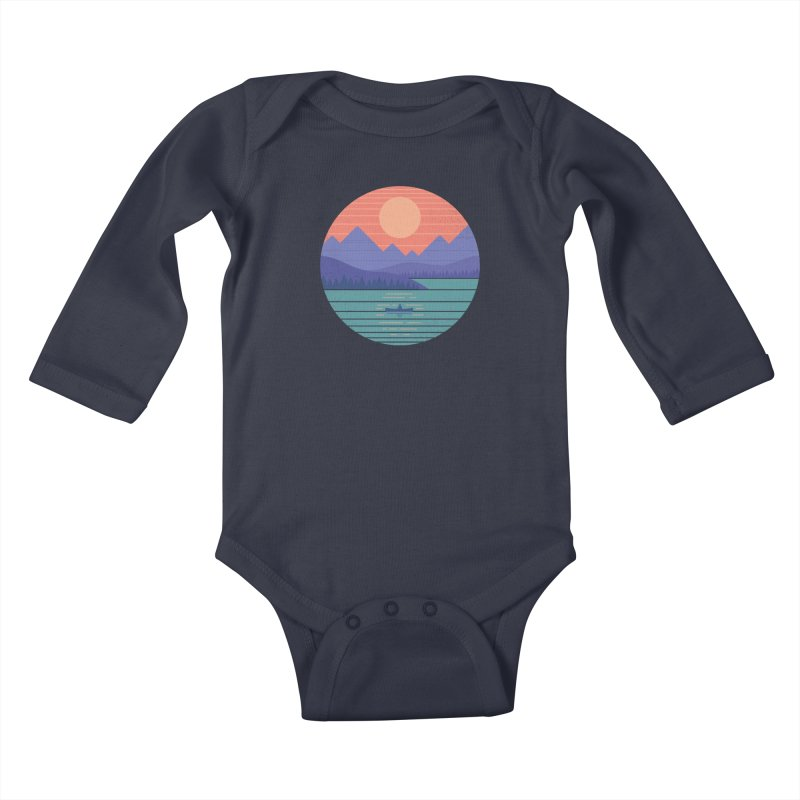 Peaceful Reflection Kids Baby Longsleeve Bodysuit by thepapercrane's shop