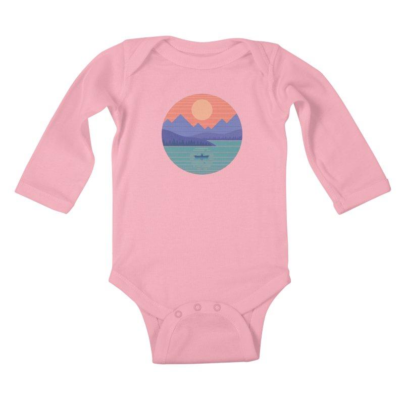 Peaceful Reflection Kids Baby Longsleeve Bodysuit by thepapercrane's shop