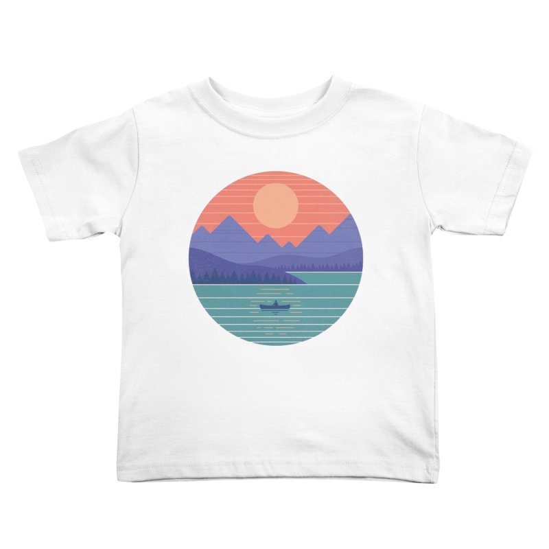 Peaceful Reflection Kids Toddler T-Shirt by thepapercrane's shop