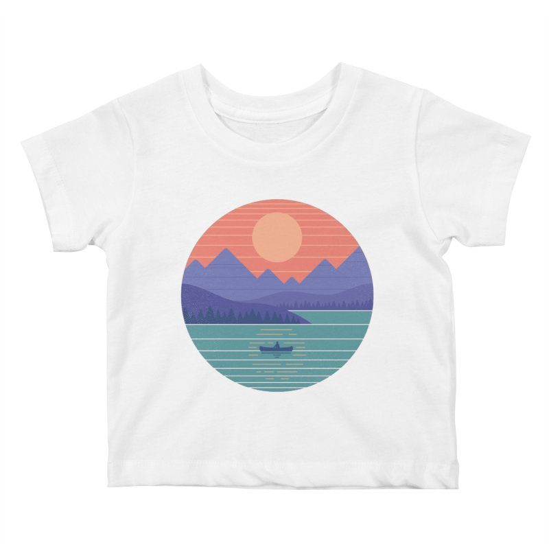 Peaceful Reflection Kids Baby T-Shirt by thepapercrane's shop