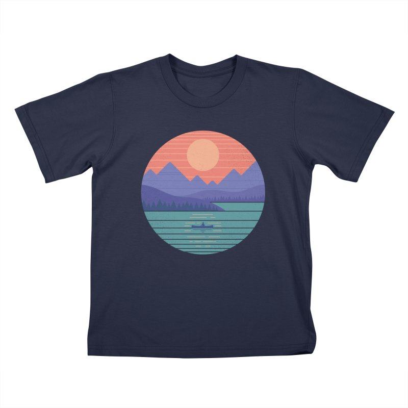 Peaceful Reflection Kids T-Shirt by thepapercrane's shop