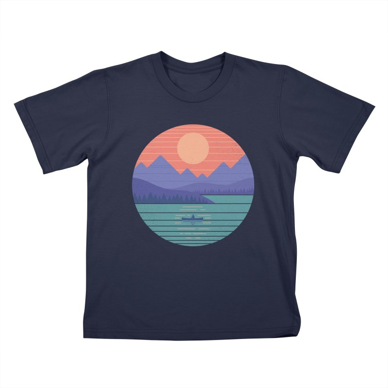 Peaceful Reflection Kids T-Shirt by thepapercrane's shop