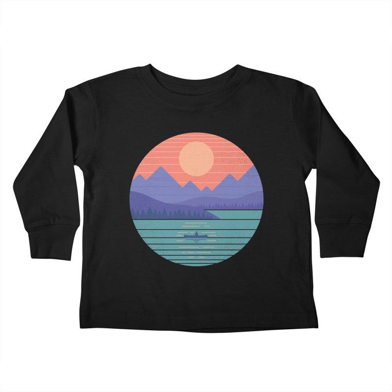 Peaceful Reflection Kids Toddler Longsleeve T-Shirt by thepapercrane's shop