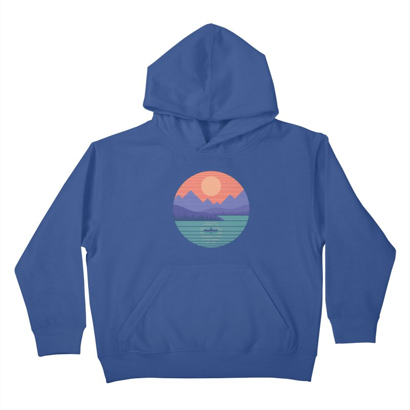 Peaceful Reflection Kids Pullover Hoody by thepapercrane's shop