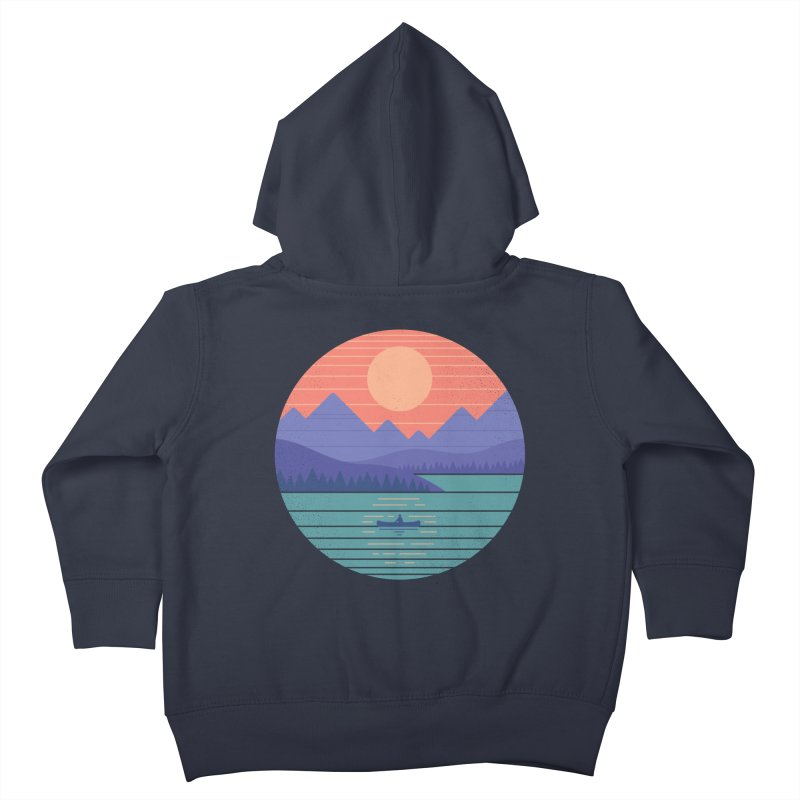Peaceful Reflection Kids Toddler Zip-Up Hoody by thepapercrane's shop
