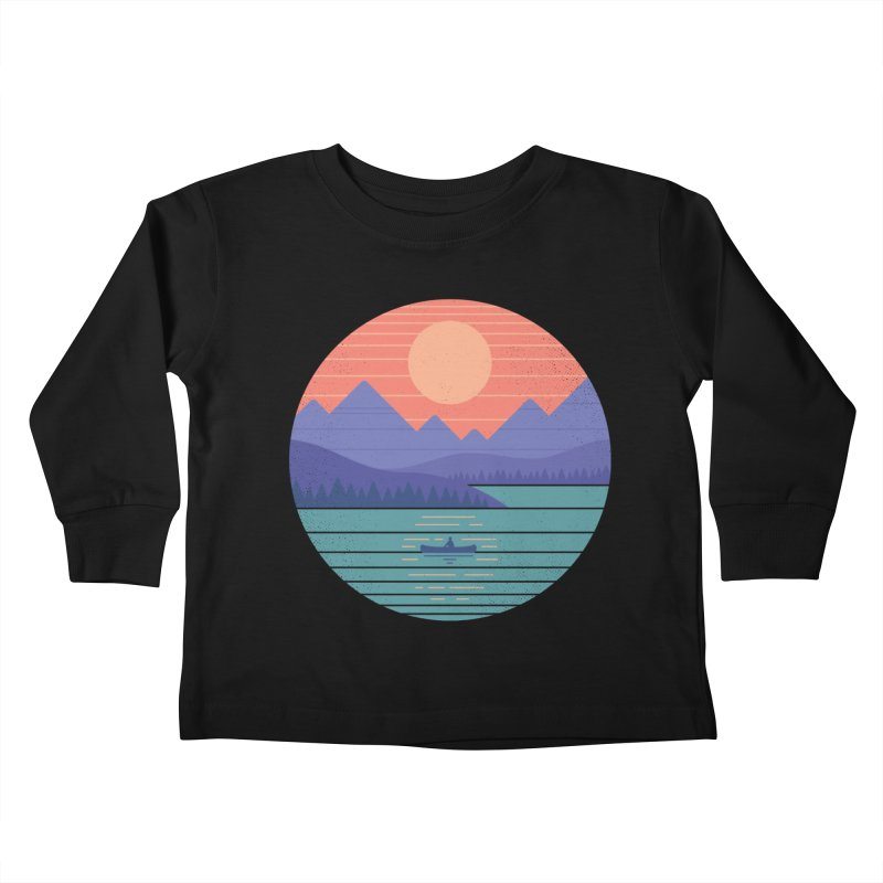 Peaceful Reflection Kids Toddler Longsleeve T-Shirt by thepapercrane's shop