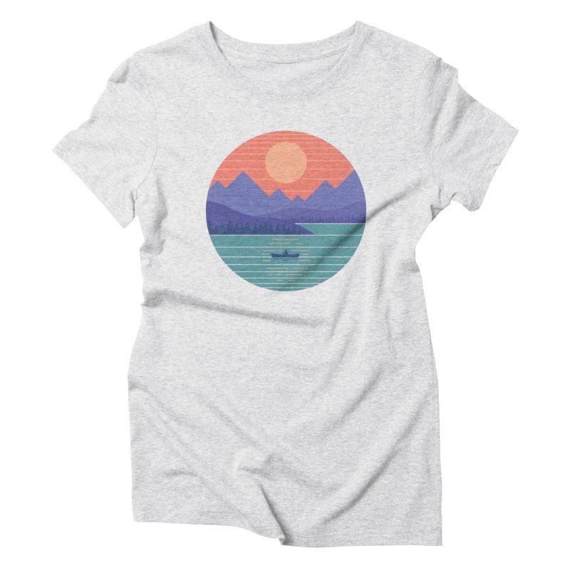 Peaceful Reflection Women's T-Shirt by thepapercrane's shop