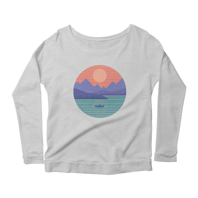 Peaceful Reflection Women's Scoop Neck Longsleeve T-Shirt by thepapercrane's shop