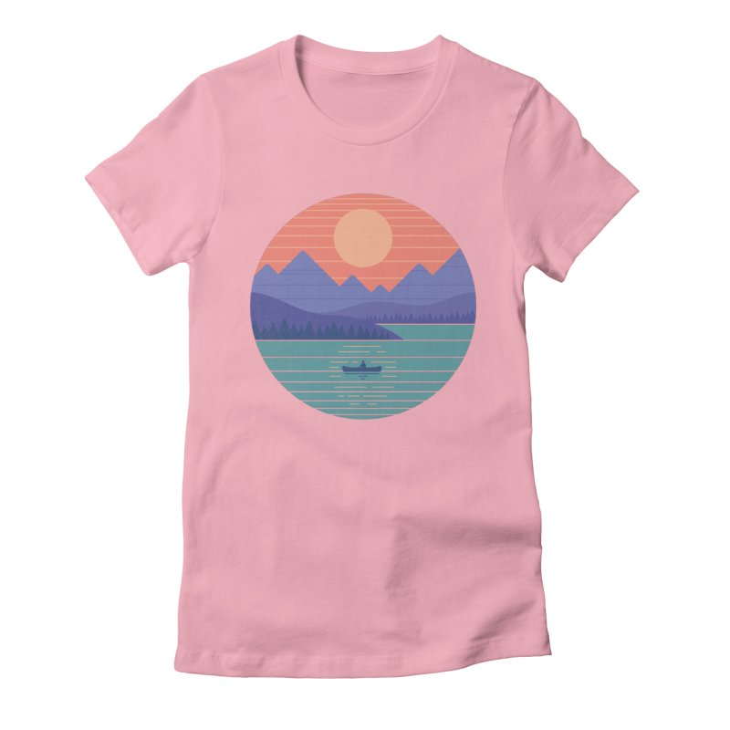 Peaceful Reflection Women's Fitted T-Shirt by thepapercrane's shop
