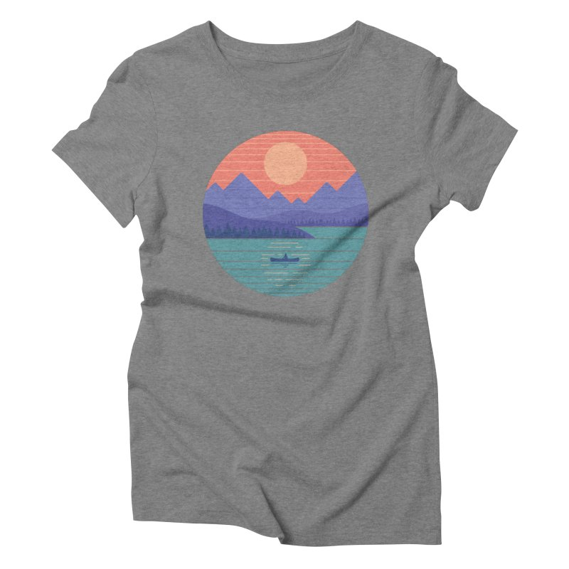 Peaceful Reflection Women's Triblend T-Shirt by thepapercrane's shop